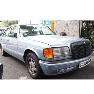 (PO) MERCEDES W126 300SEL 1989 STEERING WHEEL (07505)