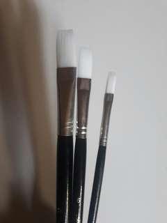 Berkeley Flat Paint Brush Long Handle Set