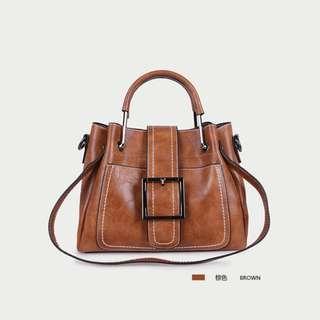 Affordable Good Quality Versatile Brown Small handbag / sling bag / shoulder bag