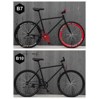 "*SALES* 26"" Black Frame & Black Rim Fixie With Black Tyre Coaster Brakes New Bicycle"