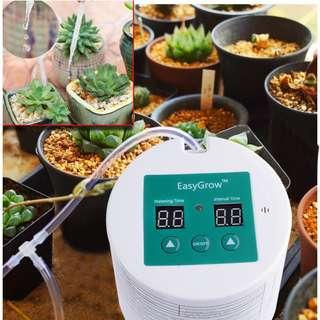 Automatic Drip Irrigation Kit, Self Watering System with Timer for Balcony Deck Planter, Patio, Mini Vegetable Home Garden or Indoor Potted Succulent Herb Flower Plants, Holiday Vacation Programmable Water Timer Up To 15 Days
