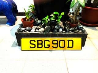 SBG90D Car Plate For Sale!