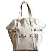 YSL Downtown Tote in White