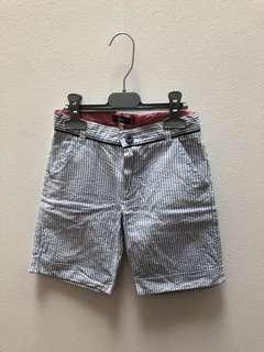 🚚 Shorts stripes light blue white size 5-6 years
