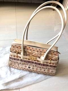 Italian Leather Bag (beige) High Quality from Florence