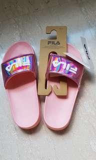 9a5af2c37ff6 Fila pink holographic slides