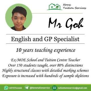 English and GP Specialist home tuition