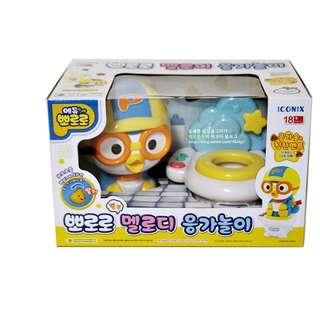 Pororo Melody Poopoo Play Set, Toilet Playing Toy with 14 Songs