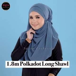 🚚 1.8m Polkadot Long Shawl