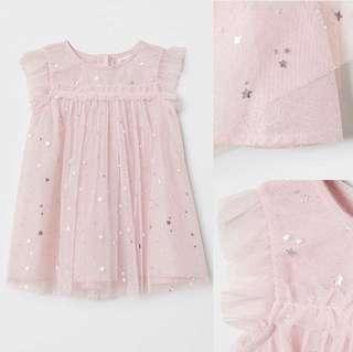 NEW H&M Pink Star Baby Dress