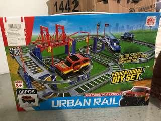 🚚 Brand New! Urban Rail Car Track Set (88pc)