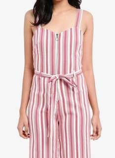 Authentic💯 BNWOT Miss Selfridge Striped Bengaline Jumpsuit
