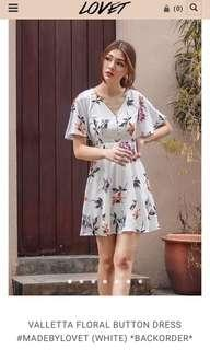 LOVET VALLETTA FLORAL BUTTON DRESS