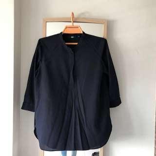 🚚 Navy Blue Formal Blouse