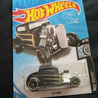 🆕⭐ Hot Wheels 32 Ford Matte Black Rod Squad Special