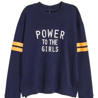 H&M Power To The Girls Pullover