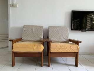 2 single seater Scanteak sofa