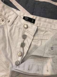 Glassons white denim shorts