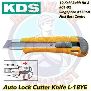 KDS Autolock 18mm Cutter Knife L-18YE