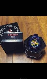 G shock 樂高藍 9成新 附保修卡、原廠鐵盒 為二手品 些許使用痕跡 完美主義者勿留