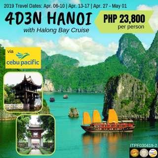 4D3N Hanoi with Halong Bay Cruise