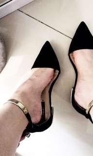 Zara Shoes , ZARA FLAT SHOES IN BLACK