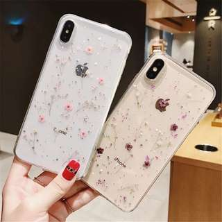 caa820f7664 Real Flowers Dried Flowers Soft Phone Cover Case