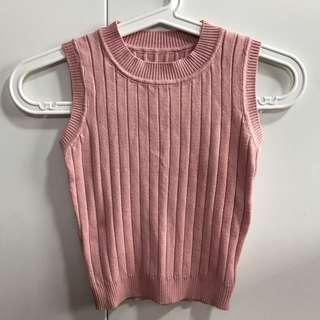 🚚 BN pink ribbed top