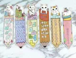 kawaii bookish felines bookmark