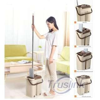 Hands Free SCRATCH ANET MOP WITH STAINLESS STEEL THICK BASKET FREE 2X MicroFiber Mop Cloth