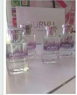 "PURVU,parfume masa kini wanginya tahan lama""PURVU""is the best"