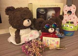 🚚 日本🇯🇵大學熊配件墨鏡全新
