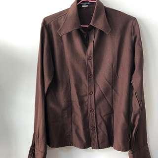 🚚 褐色質感襯衫