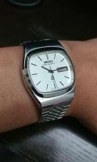 SEIKO KING Quartz TV dial, 直條布紋面, 全原裝, 高階KS石英機芯,靚仔@@@@( citizen omega hamitlon grand seiko casio)