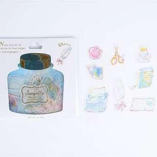 🚚 Cute Vintage Stationery Jam Jelly Sticker Flake Packet