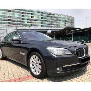 Actual year made 2012 BMW 730Li 3.0 F02 Facelift CBU Full Spec Full Service Record Low Mileage Best Deal !!! Full Loan !!!