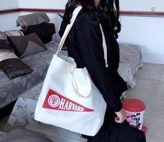 Harvard Canvas Tote Bag With Sling