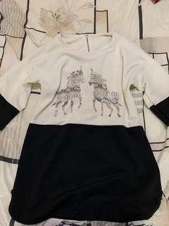 Long Shirt Black & White