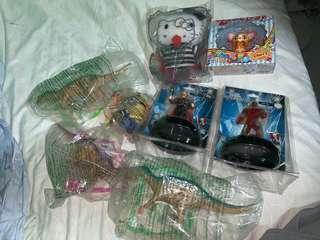 Various toys collectible, Macdonald vintage toys, KFC Marvel Iron Man Thor Avengers