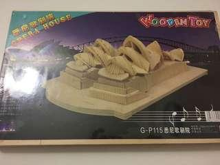 Opera house wooden construction kit puzzles