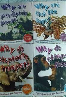 Educational science book animal facts