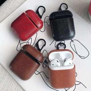🚚 Airpods/AirPod Leather Material Case