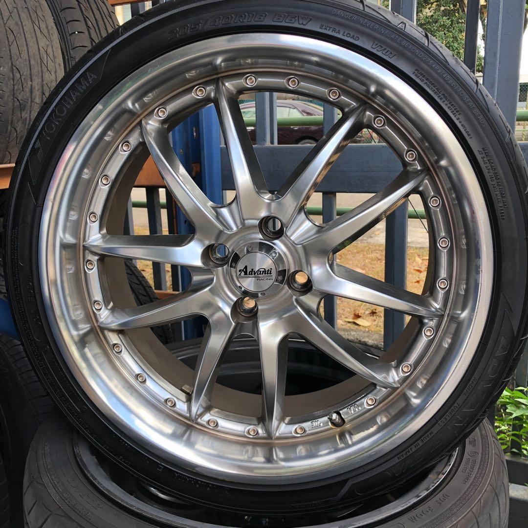 18 Mini Cooper Advanti Rim 4x100 Car Accessories Tyres Rims On