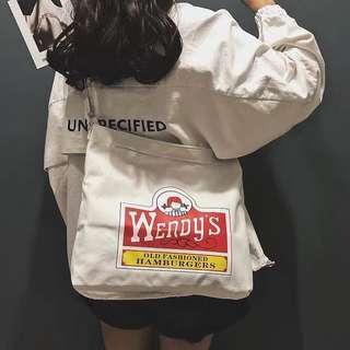 🚚 Wendy's Slingbag/Tote Bag Canvas