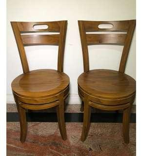 Pair of Teak chair