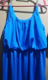 Blue knee high dress