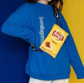 🚚 Yellow Lays Sling Bag/Cross body