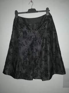 Dark Gray Skater Skirt