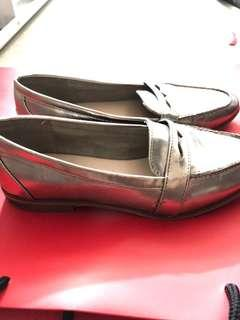 Muted Gold Metallic Loafer