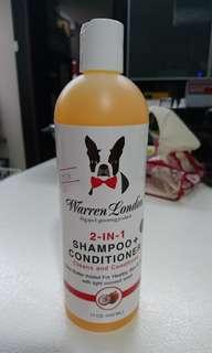Warren London 2in1狗狗沖涼液shampoo+conditioner(全新:椰子咪)